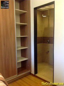 Larossa in Capitol Hills Showroom- Studio Unit Closet and Bathroom