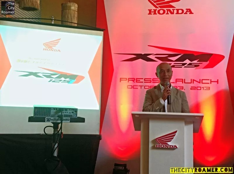 Honda Philippines President and General Manager Yasushi Okamoto at the Honda XRM 125 Press Launch