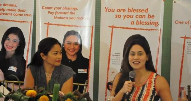 World Vision Celebrities for Children Participants Miriam Quiambao and Cristalle Henares