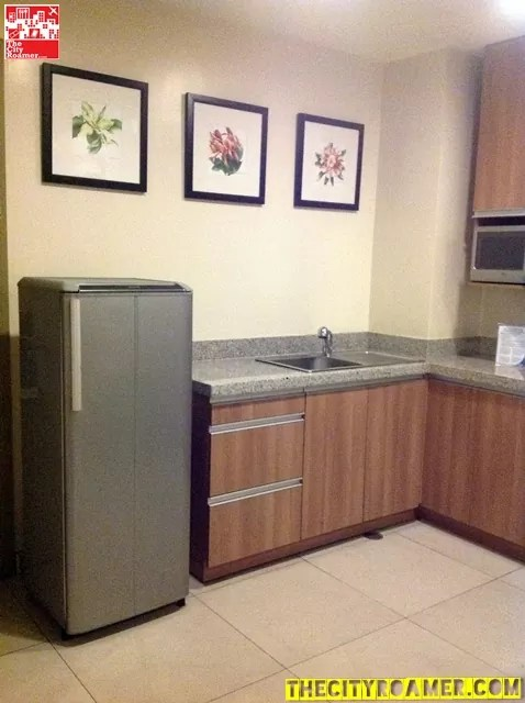 Refrigerator and Kitchen Area of Family Suite at Azalea Residences Baguio