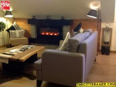 Living area of the Presidential Suite at Azalea Residences Baguio