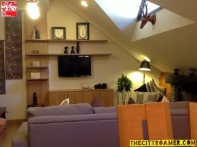 Wall Accents and Flat TV at the Presidential Suite of Azalea Residences Baguio