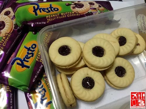 Presto Peanut Butter and Jelly-Filled Cookies