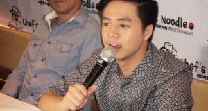 Sam Concepcion at the media conference held at Chef's Noodle Robinsons Magnolia