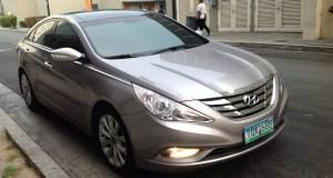 A Hyundai Sonata is my ride to the GrabCar Media Launch
