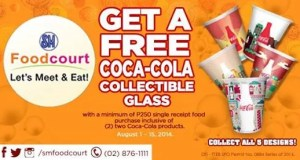 Grab Your Free Coca-Cola Collectible Glass at SM Food Court