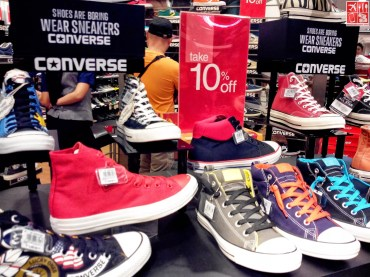 Discounted Converse Sneakers at the SM City Sta Mesa 3-Day Sale Aug 15 2014