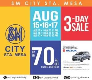 SM City Sta Mesa 3-Day Sale