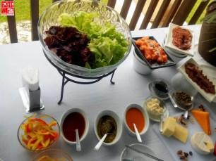 Salad and cold cuts at Aquaria Beach Resort