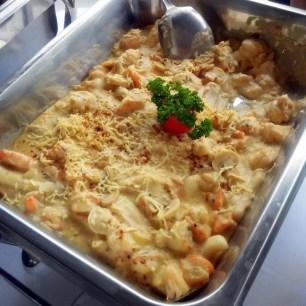 Seafood dish at Aquaria Beach Resort
