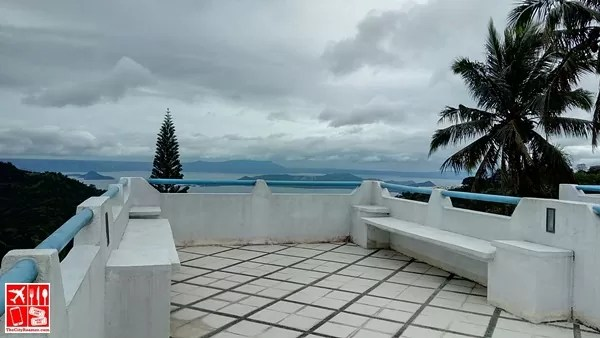 The roofdeck of Santorini-themed room at Estancia Resort Hotel Tagaytay