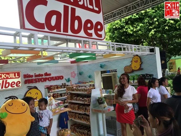 Buy your Jack n Jill Calbee snacks at the popup store