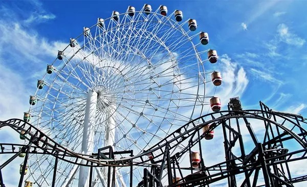 Ferris Wheel and Roller Coaster at Star City