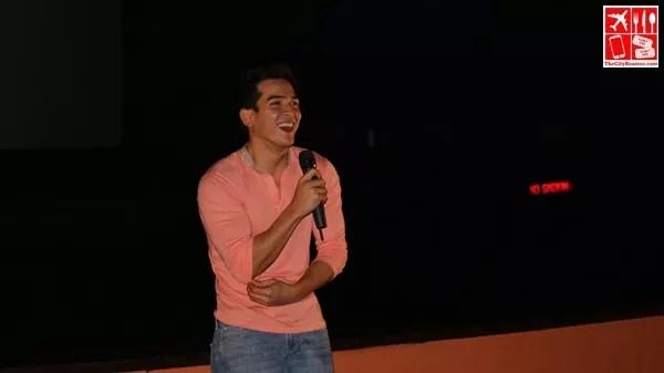 Edward during the screening of his music video Puso Kong Ito