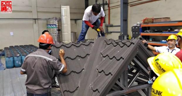 Metalink Stone Tile Roofing installation demo