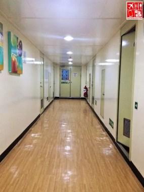 The hallway to 2Go Travel's M/V Saint Ignatius of Loyola Cabin Class