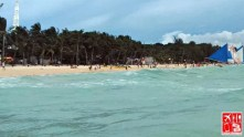 The shore of Boracay from afar