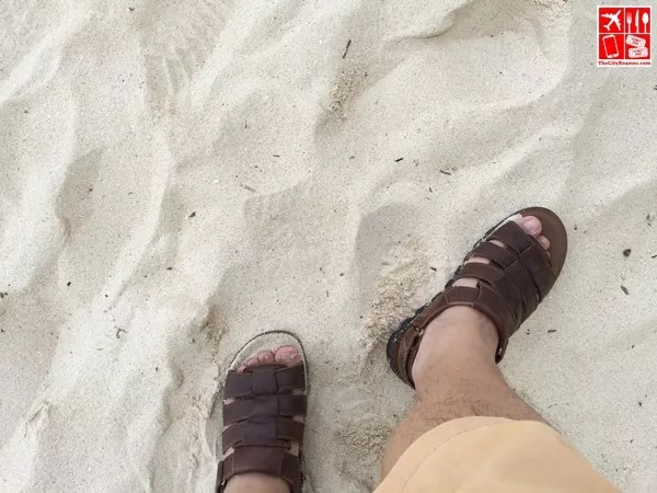 The powdery sand on my feet is one of my Boracay experience