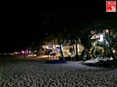 The shores of Boracay in the evening
