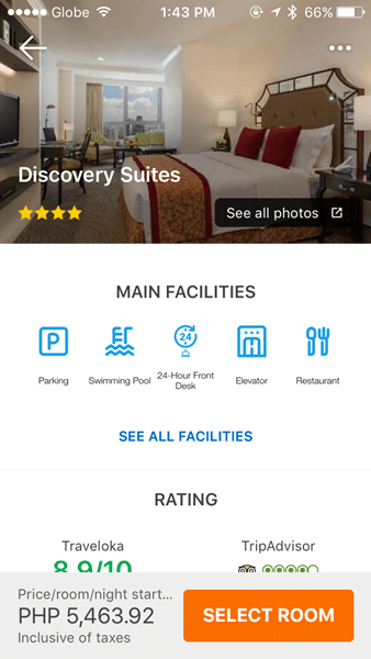 The Main Page of Discovery Suites