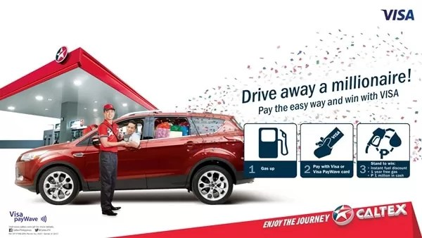 Drive away a millionaire Caltex and Visa promo