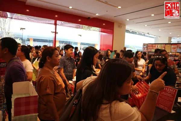 Shoppers were welcomed with a flash sale at Daiso Japan UP Town Center