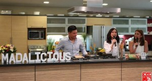 A cooking demo by Chef Llena Tan-Arenas with Drew and Iya