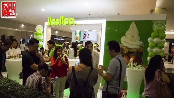 Guests enjoy Llao Llao Frozen Yogurt during the private event