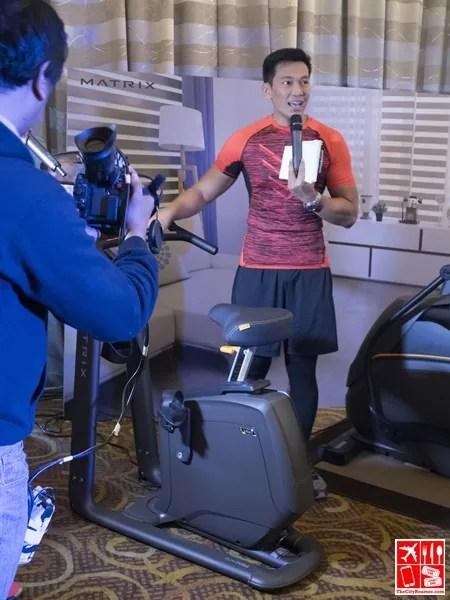 At the Matrix Cardio Fitness Equipment launch