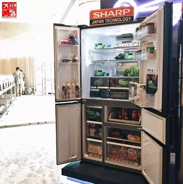 Sharp 676 litre innovative supreme four door french door refrigerator