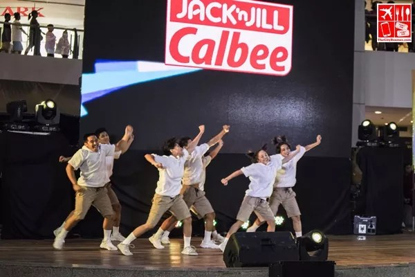 Adamson Cast do their routine at the Dance to the Calbeats Dance Competition