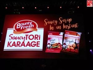 Bounty Fresh Saucy ToriKaraage introduced at Manila Masters