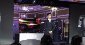 Korean celebrity Kim Soo Hyun is special guest at the Samsung QLED TV launch