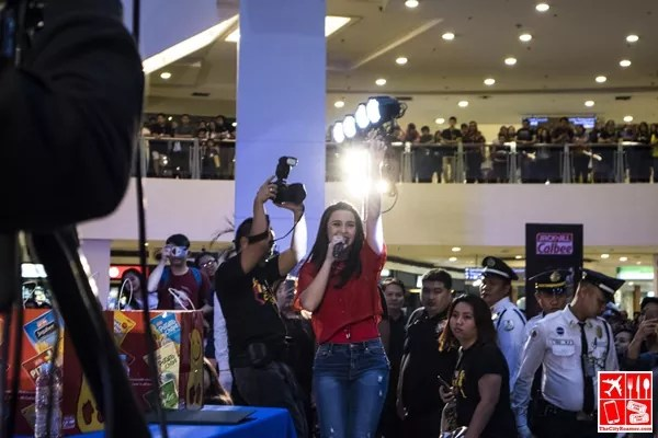Yassi Pressman performs at the Dance to the Calbeats event