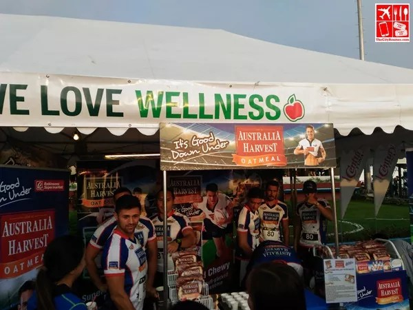 Australia Harvest Oatmeal booth at the 10th Fit & Fun Wellness Buddy Runwith The Volcanoes