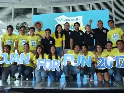Cebu Pacific Juan For Fun 2017 Backpacker Team Finalist with coaches