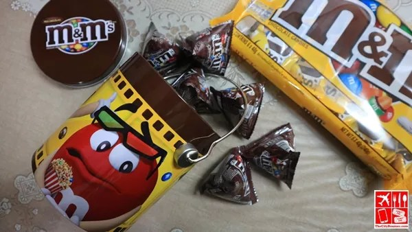 Grab packs of M&M's Chocolates for snacks