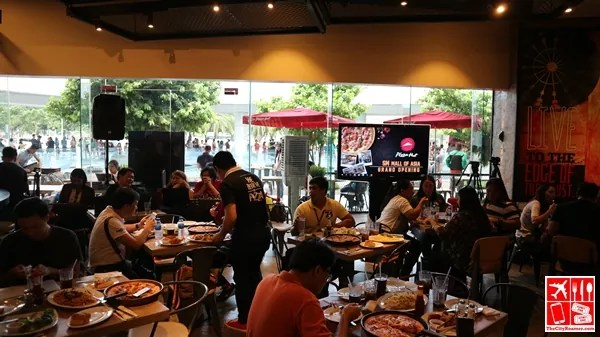 The Pizza Hut flagship store at SM MOA is spacious