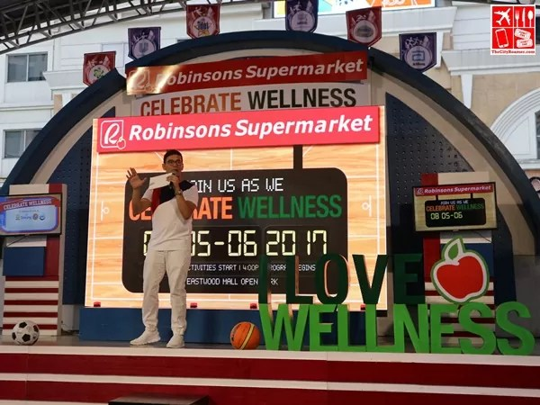 Tonipet Gaba hosting the Robinsons Supermarket Celebrate Wellness kick-off event