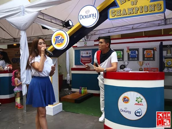 At the Procter & Gamble booth of Robinsons Supermarket Celebrate Wellness event