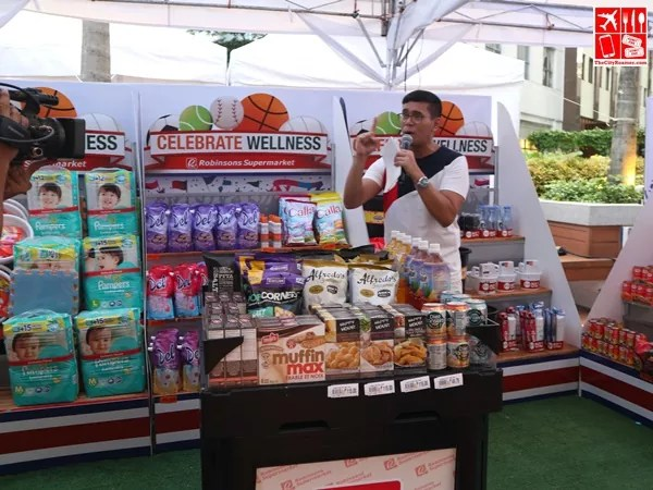 Tonipet Gaba talks about the stuff you can buy at the Robinsons Supermarket Celebrate Wellness event