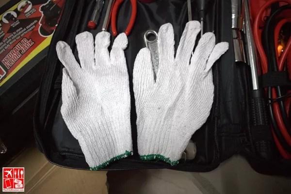 1 Pair Cotton Gloves