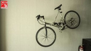 A bike rack is installed in every Le Charme Suites room