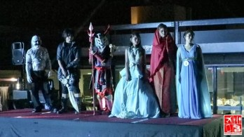 cosplay competition at Le Charme Suites Halloween Party