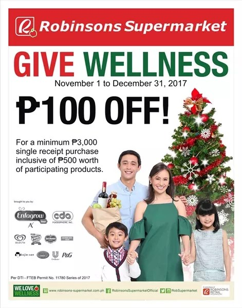 robinsons supermarket give wellness 100 off