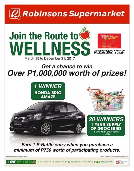robinsons supermarket rout to wellness promo