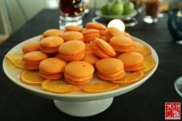 Orange Macaroons were served with a Remy Martin XO