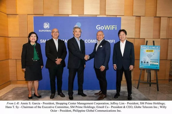SM and Globe partnership for SM GoWiFi