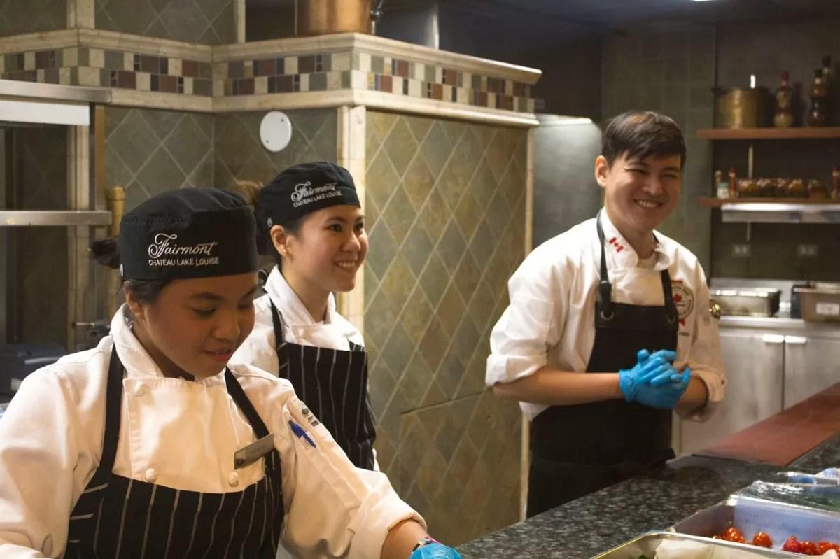 Chef Anton Amoncio in the kitchen