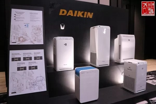 Daikin Air Purifiers on display